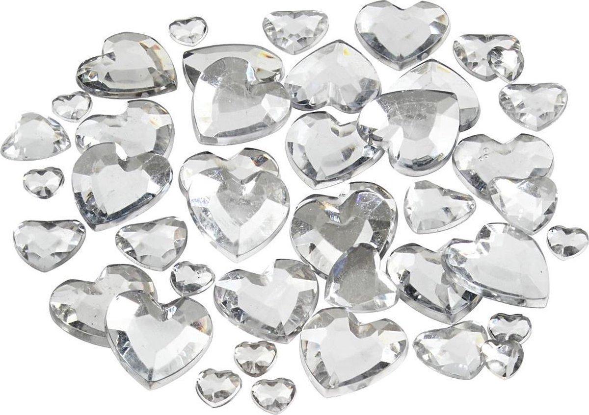 Strasstenen. zilver. afm 6+10+14 mm. 252 stuk/ 1 doos