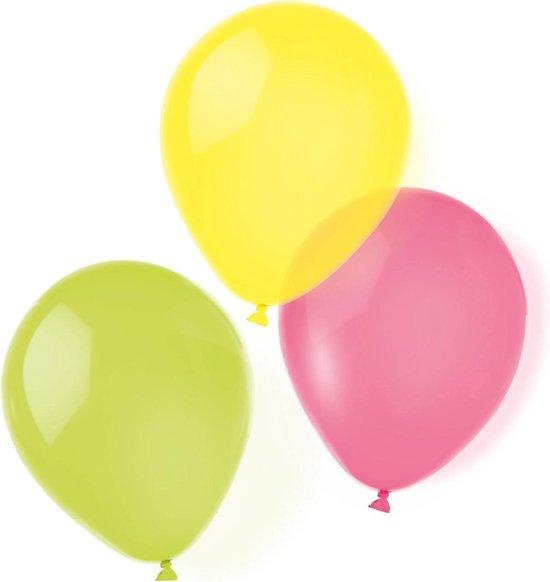 Amscan Ballonnen Neon 25,4 Cm Latex 8 Stuks