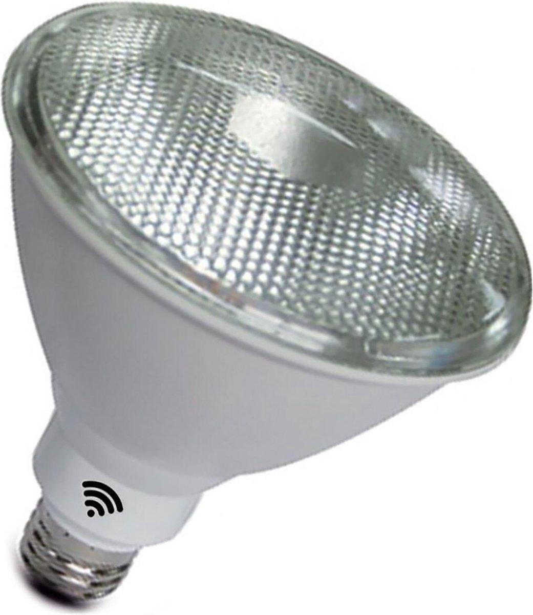 LED Lamp - Smart LED - Frikto Sponty - PAR Lamp - 12W - E27 Fitting - Slimme LED - Wifi LED - Dimbaar - Aanpasbare Kleur - RGB+CCT - Waterdicht