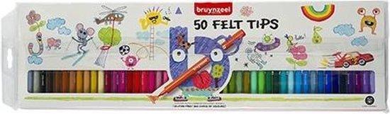 BRUYNZEEL Inspiring Young set 50 stiften Felt Tips viltstiften