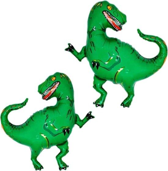 Dino Ballon Feestversiering Verjaardag Feest Decoratie Dinosaurus Folie Ballon 2 Stuks Met Rietje