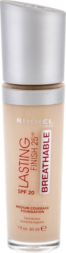 Rimmel Lasting Finish Breathable Foundation – 103 True Ivory