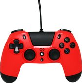 Gioteck VX4 Premium Bedrade  Controller - Rood - PS4 & PC