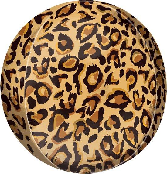 Orbz Folieballon Leopard Print 41 Cm Bruin