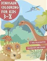 Dinosaur Colouring Book For Kids 3-8