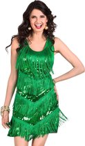 """Groene Charleston kostuum voor vrouwen - Verkleedkleding - One size"""