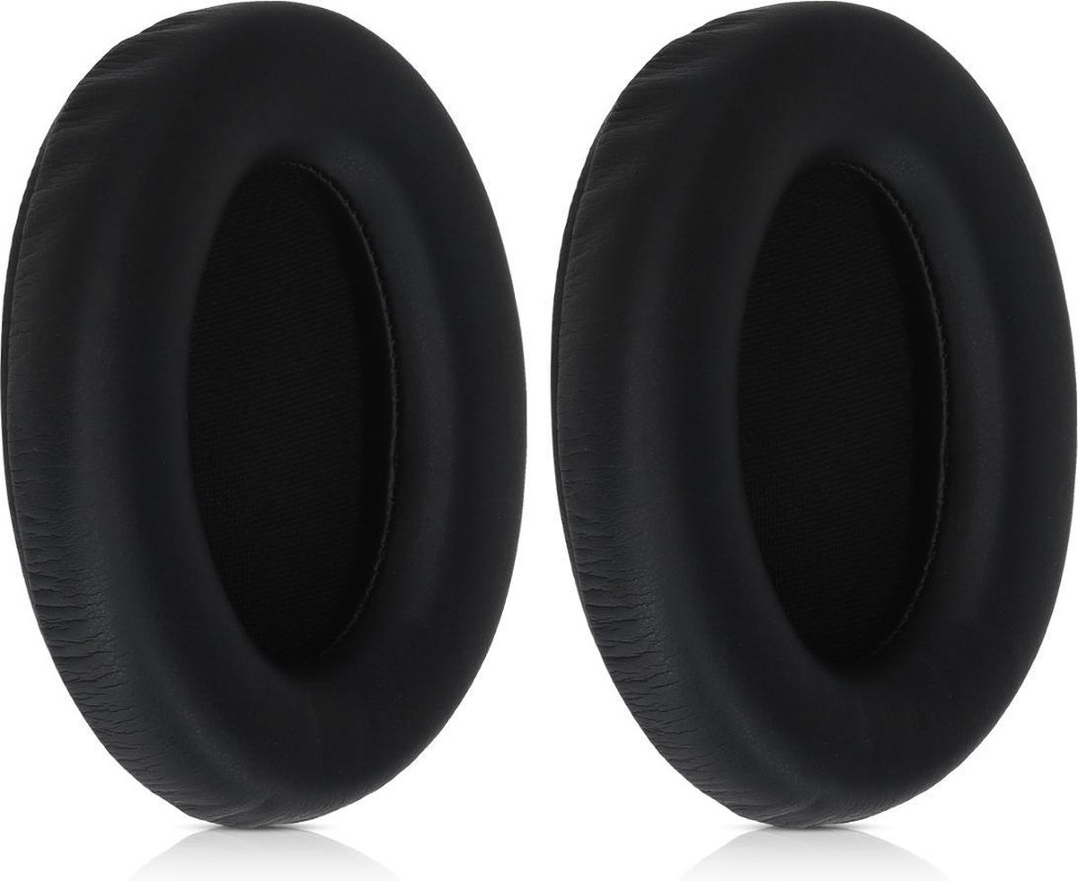 kwmobile 2x oorkussens voor Sony WH-1000XM3 koptelefoons - imitatieleer - voor over-ear-koptelefoon - zwart