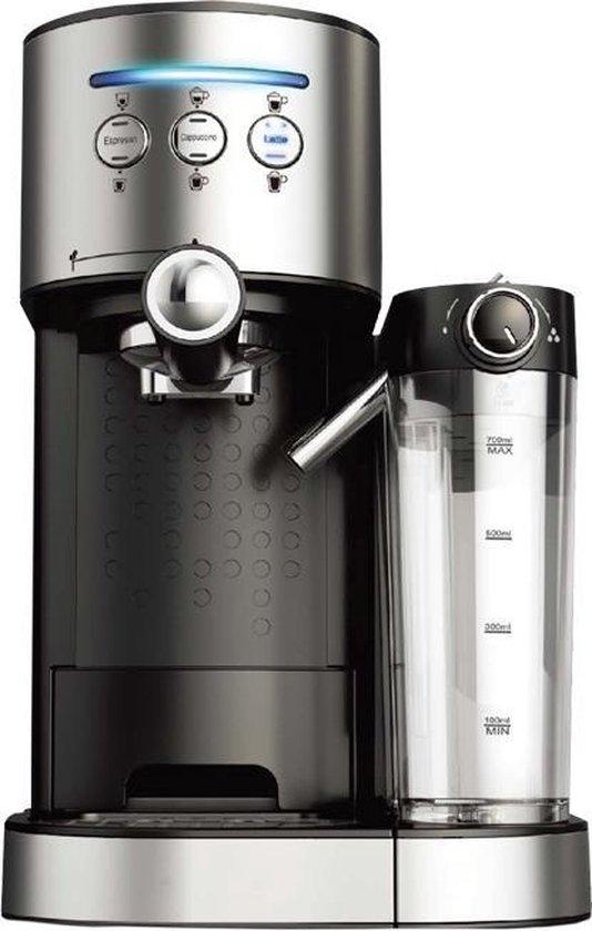 Molino Koffiemachine - Pistonmachine - geschikt voor Cappucino en Espresso - met automatische melkschuimer