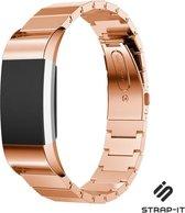 Strap-it® Fitbit Charge 2 luxe metalen bandje - rosé goud