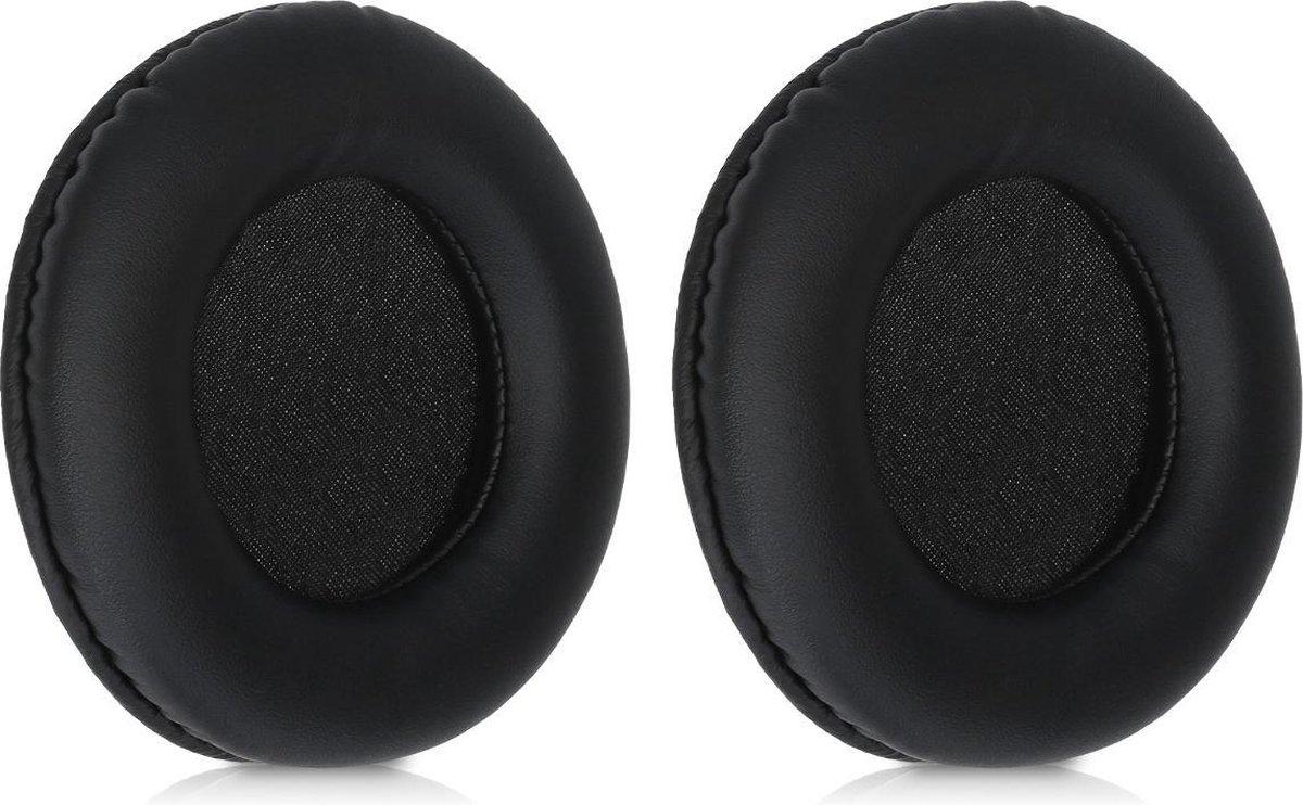 kwmobile 2x oorkussens voor Sony MDR-DS7000 / RF6000 / RF6500 / CD470 koptelefoons - imitatieleer - voor over-ear-koptelefoon - zwart