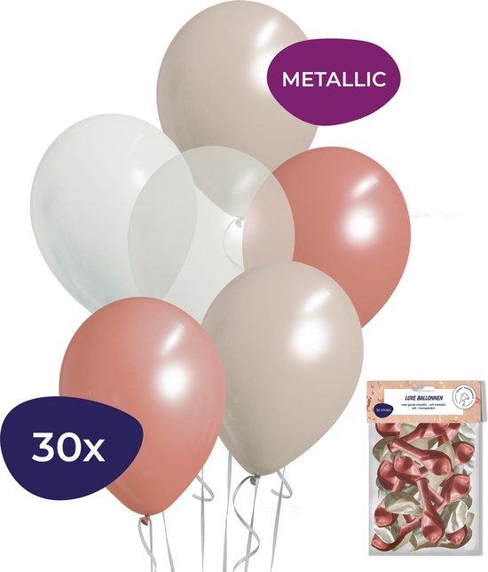Sweet 16 Versiering - Sweet 16 Versiering Rose Goud - Geboorte Versiering Meisje - Helium Ballonnen - 30 stuks
