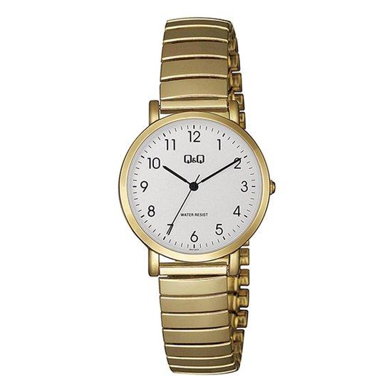 Q&Q dames horloge double met rekband QA21J034Y