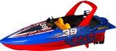 NIKKO RC 10172 Speedboot, Bestuurbare Boot RC Boot, Wateractie tot 2,5 km/h, Robuuste Motorboot, Snelle Reactie, 25 m Bereik, Voor Kinderen vanaf 6 Jaar & Volwassenen, ca. 30 cm, Blauw