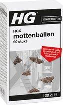 HGX mottenballen - 130 gr - effectieve bestrijdingsmiddel