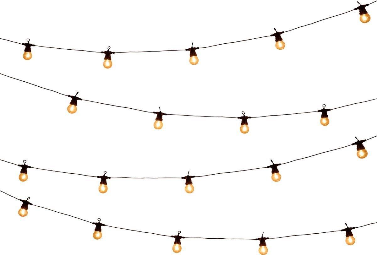 Tuin lichtsnoer met filament lampjes van WDMT    13,55 meter lang   20 stuks LED lamp tuin verlichti