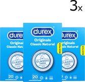 Durex Condooms Classic Natural - 3 x 20 stuks