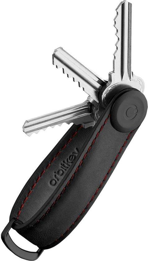 Orbitkey Sleutelhangers Orbitkey Leather Leer - zwart