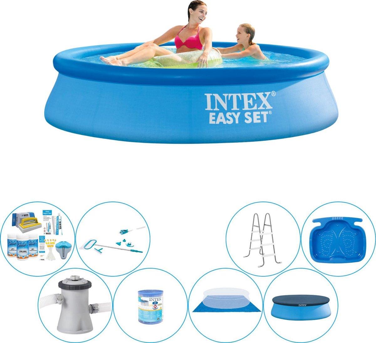 Intex Easy Set Rond 244x61 cm - Alles in 1 Zwembad Pakket
