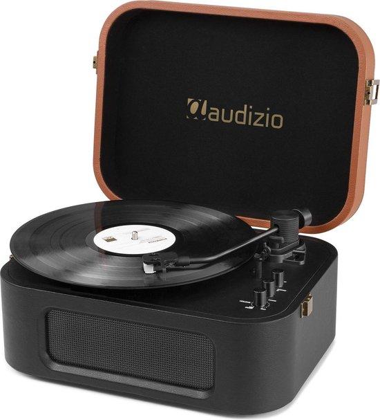 Platenspeler Bluetooth - Audizio RP315 high-end retro platenspeler met Audio Technica element en naald - Zwart
