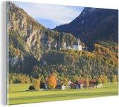 Glasschilderij - Kasteel - Huis - Bomen - 90x60 cm - Plexiglas Schilderijen