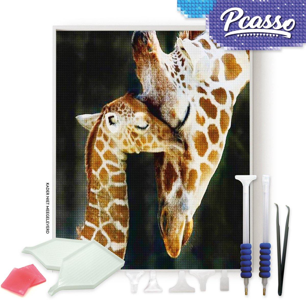 Pcasso ® Twee Giraffen Realistisch - Diamond Painting - Incl. Veel Diamond Painting Accessoires - Diamond Painting Kinderen - Diamond Painting Dieren - Diamond painting volwassenen - 30x40 CM