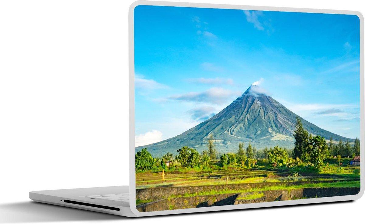 Laptop sticker - 13.3 inch - Een vulkaan op de Filipijnen