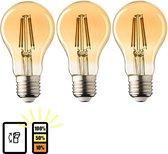 3 stuks E27 LED Lampen Lybardo 3-stap Dimbaar Filament 4W 2500K Warm Wit
