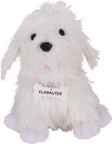 Goki Handpop Hond Klabauter Wit 24 Cm