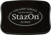 StazOn - stempelkussen Jet Black SZ-000-031 zwart inkt inktkussen