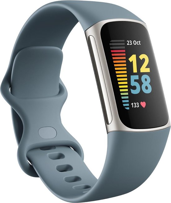 Fitbit Charge 5 - Activity Tracker – Staalblauw