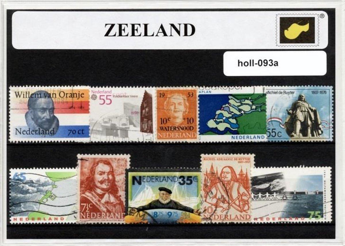 Zeeland - Typisch Nederlands postzegel pakket & souvenir. Collectie van verschillende postzegels van Zeeland - kan als ansichtkaart in een A6 envelop - authentiek cadeau - kado - kaart - mos