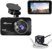 Qumax Dashcam voor auto – Voor en Achter Camera – Full HD – Parkeerstand met Bewegingsdetectie en ingebouwde G-sensor – IPS-display - 170° Wijdhoeklens