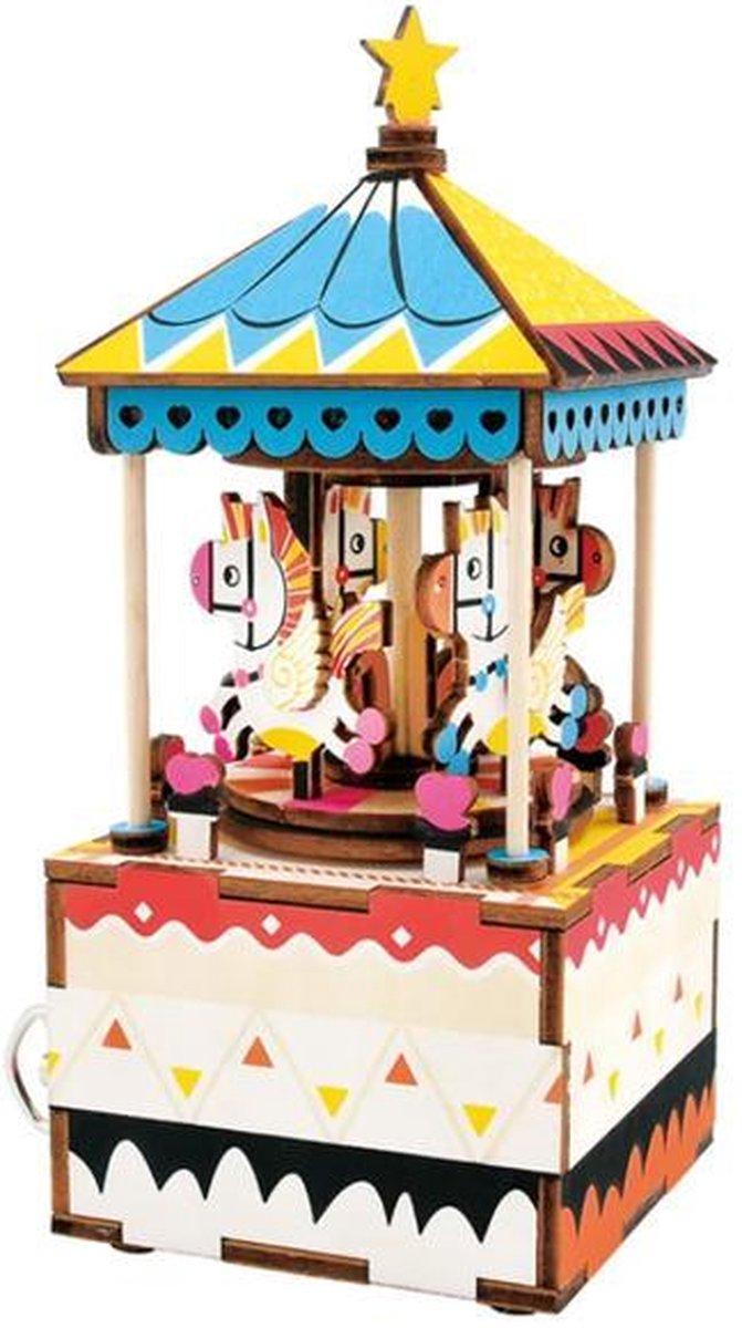 Robotime modelbouwpakket - Music Box Merry Go Round