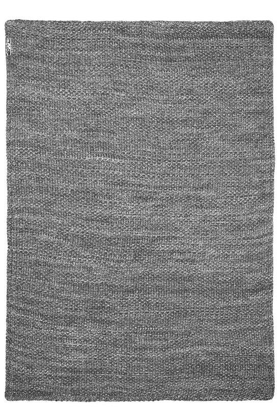 Meyco wiegdeken Relief Mixed met velvet - 75x100 cm - grijs