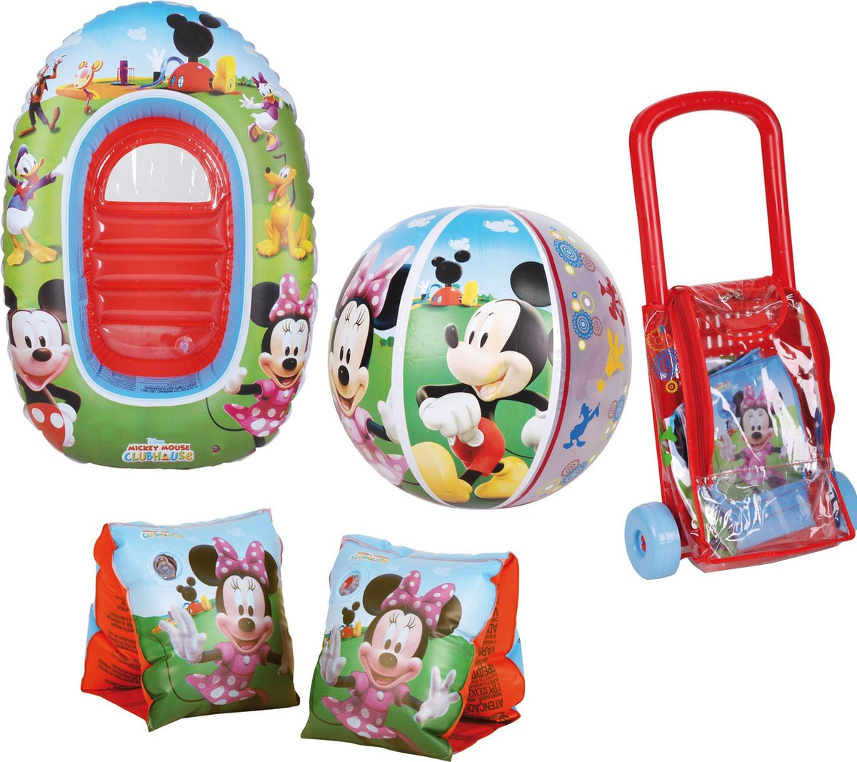 Disney Strandset (3 dlg) met trolley