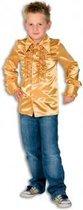 Rouches blouse  goud voor jongens 128