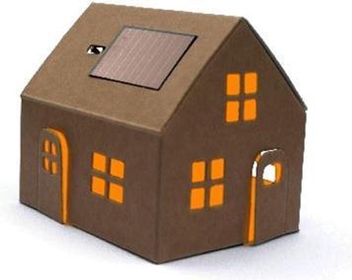 Bouwpakket huisje met zonnepaneel - Litogami