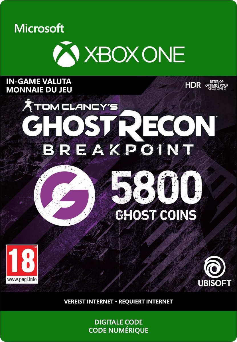 Ghost Recon Breakpoint: 4800 +1000 bonus Ghost Coins - Xbox One Download