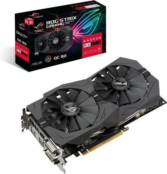 ASUS ROG 90YV0AJ8-M0NA00 videokaart Radeon RX 570 8 GB GDDR5