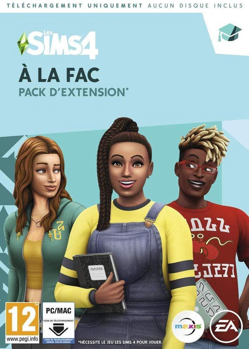 Les Sims 4: A La Fac - PC/Mac Basic + Add-on Frans