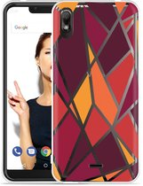 Wiko View 2 Go Hoesje Colorful Triangles