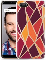Wiko Harry 2 Hoesje Colorful Triangles