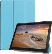 3-Vouw sleepcover hoes - Lenovo Tab E10 - Lichtblauw