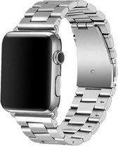 Apple watch 3 kralen stalen schakel band - zilver - 42mm en 44mm