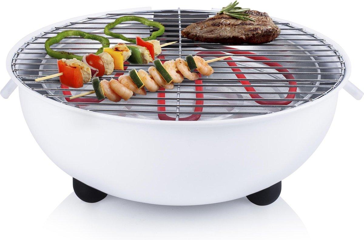 Tristar BQ-2882 Elektrische tafel barbecue - Wit - Tristar