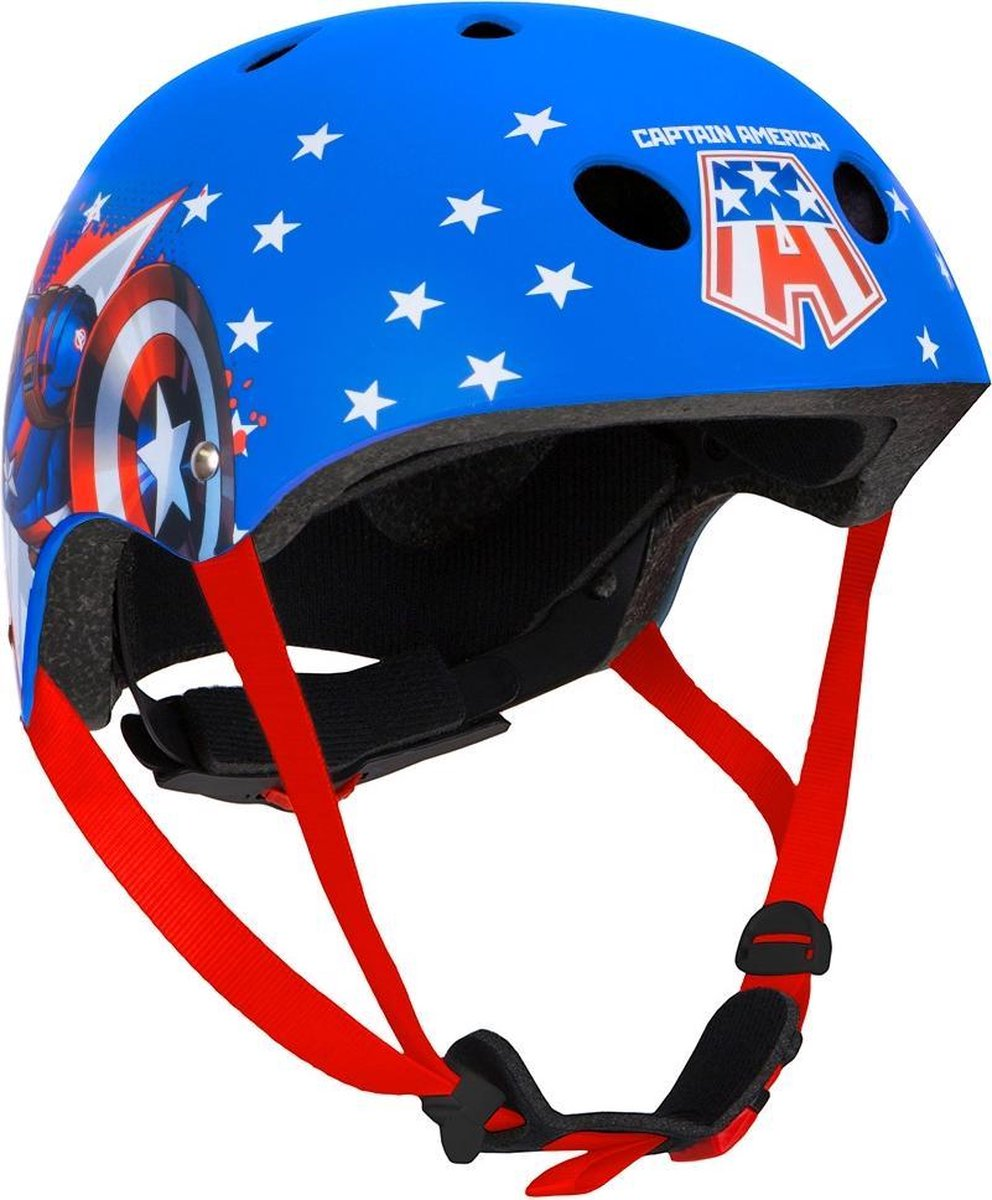 Fietshelm Captain America Jongens Blauw Maat 54/58 Cm