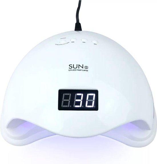 Confibel 48W Nageldroger - met UV Led Licht - Gel Nagellak Droger- Geschikt voor Vinger- en Teennagels- Inclusief Bewegingssensor en Timer - SUN 5