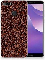 Huawei Y6 (2018) Uniek TPU Hoesje Koffiebonen