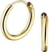 The Jewelry Collection Oorringen Ronde Buis - Geelgoud