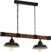 EGLO 49684 hangende plafondverlichting Zwart, Bruin E27 60 W A++,E